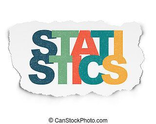 Business concept: Statistics on Torn Paper background