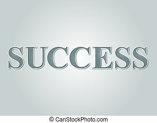 Business concept Success text guilloche pattern certificate style