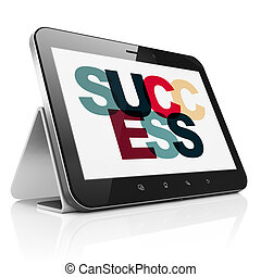 Business concept: Tablet Computer with Success on display