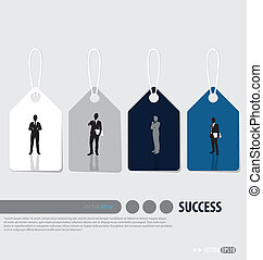 Business concept tags design. Vector illustration.