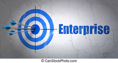 Business concept: target and Enterprise on wall background