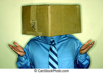 Business concept - Think inside the box