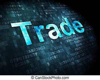 Business concept: Trade on digital background - Business...