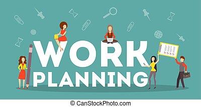 business, concept., travail, idée, stratégie, planification