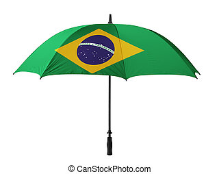 Business concept: umbrella of Flag from Brazil