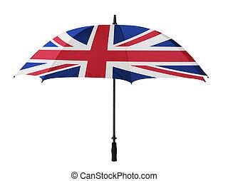 Business concept: umbrella of Flag from England