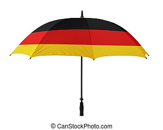 Business concept: umbrella of Flag from Germany