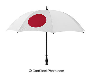 Business concept: umbrella of Flag from Japan