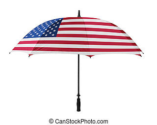 Business concept: umbrella of Flag from USA