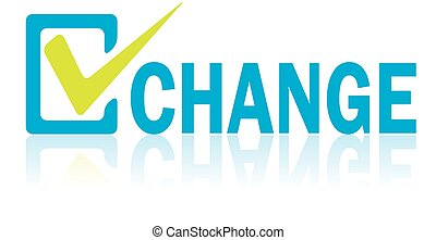 Business Concept, Vector of Change Text