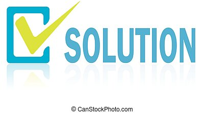 Business Concept, Vector of Solution Text