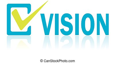 Business Concept, Vector of Vision Text