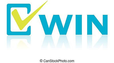 Business Concept, Vector of Win Text