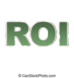 Business concept: vintage words ROI on torn paper