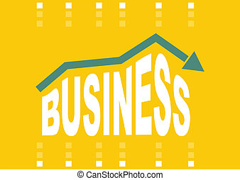 Business concept with abstract graph