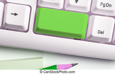Business Concept With Notes And Pc Keyboard. Colourfull Pc ...