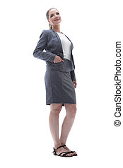 business concept.business woman leader
