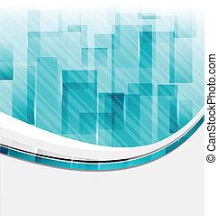 business, conception abstraite, fond, carrés, carte