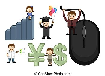 Business Conceptual Cartoon Vectors