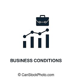 Business Conditions icon. Creative element design from business strategy icons collection. Pixel perfect Business Conditions icon for web design, apps, software, print usage