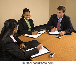 Business conference. - Businesspeople sitting at conference...