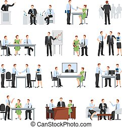 Business Conference Elements Collection. Business Conference Vector Illustration. Business Conference Decorative Set. Business Conference Concept Set. Business Conference Flat Isolated Set.