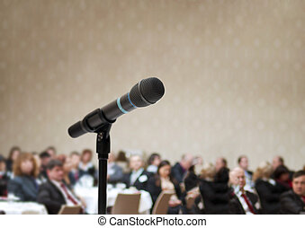 Business conference - Indoor business conference for...