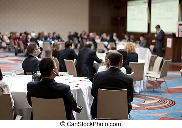 Business conference - Indoor business conference for ...