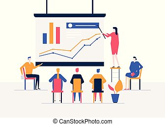 Business conference - modern colorful isometric vector illustration