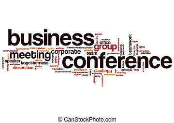 Business conference word cloud