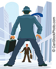 Business confrontation - Two lawyers confrontation or two...