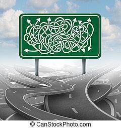 Business Confused Choice - Business confused choice concept...