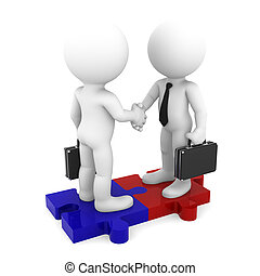 Business Connection. Conceptual business illustration....