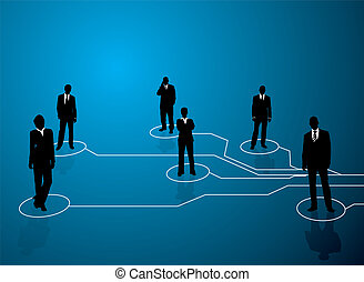 business connections - Business concept image showing links ...