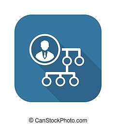 Business Connections Icon. Flat Design.
