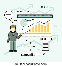 Business Consultant Vector Concept in Flat Design
