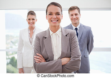 Business consultant with arms folded