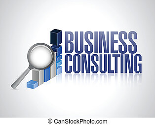 business consulting business graph illustration design over a white background