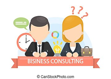 Business consulting illustration.