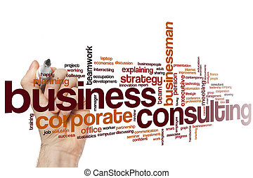 Business consulting word cloud