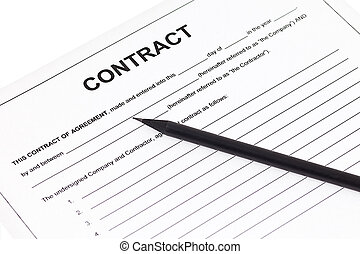 Business contract agreement - Black pencil on business...