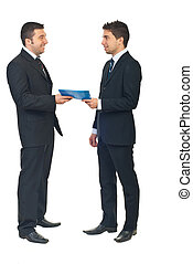 Business contract between two people