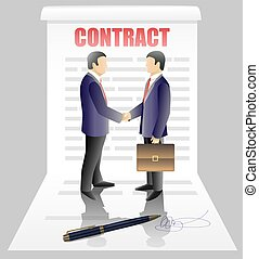 Business contract concept vector illustration
