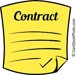Business contract icon cartoon