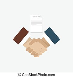 Business contracts and handshake
