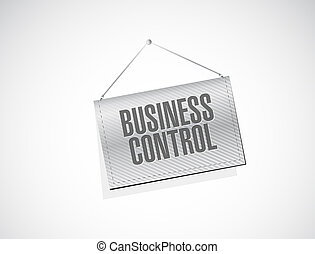 business control banner sign concept
