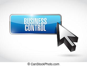 business control button sign concept