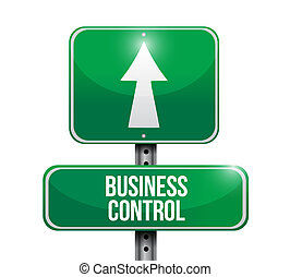 business control road sign concept