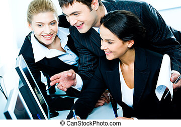 Business cooperation - Businesspeople gathered together...