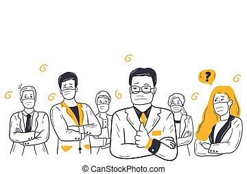 Business, coronavirus, team collaboration concept